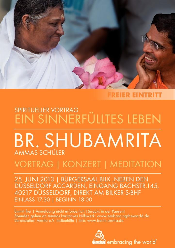Ein sinnerfülltes Leben mit Br.Shubamrita am 25.06.13 in Düsseldorf