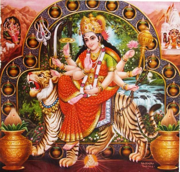 Durga auf Tiger