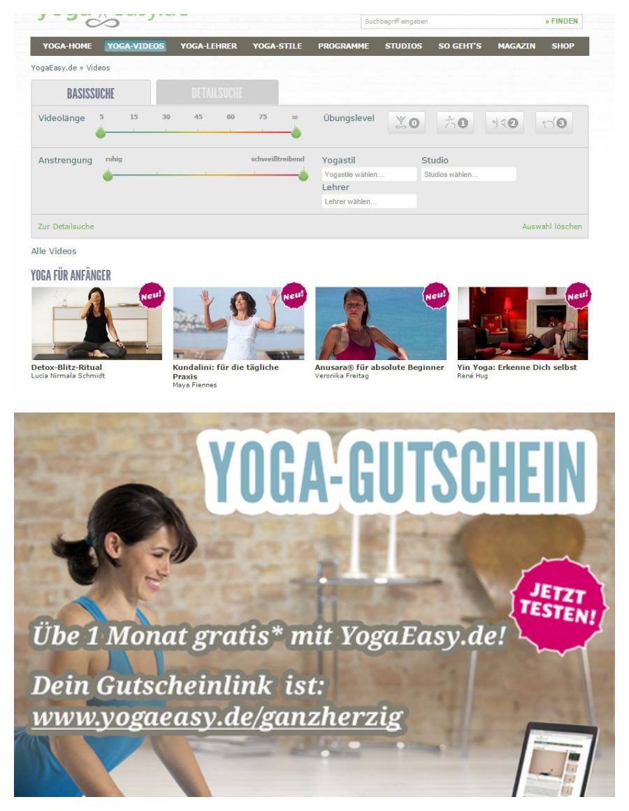 Online Yoga Yoga easy Gutschein