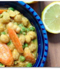 Cremiges Kichererbsen Curry selbst gemacht (vegan)