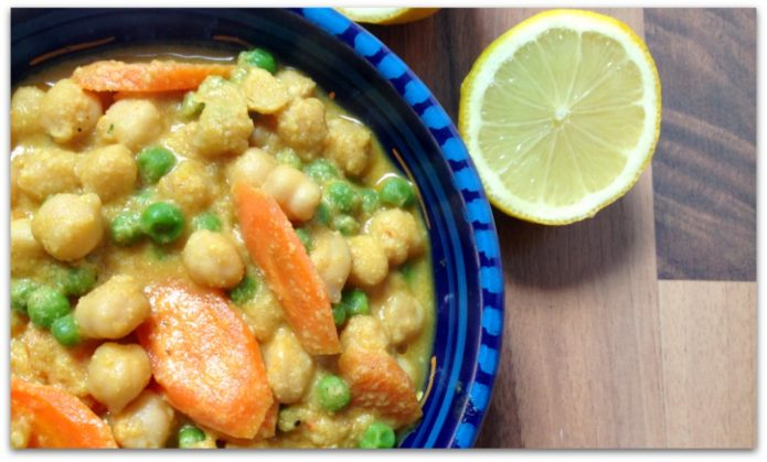 Cremiges Kichererbsen Curry